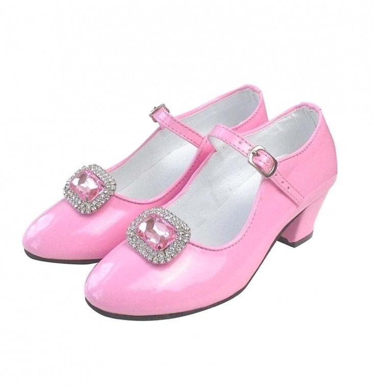 Flamenco schoenen clip glittersteen roze