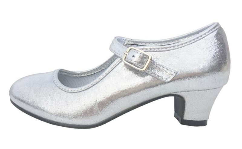 Flamenco schoenen zilver glossy