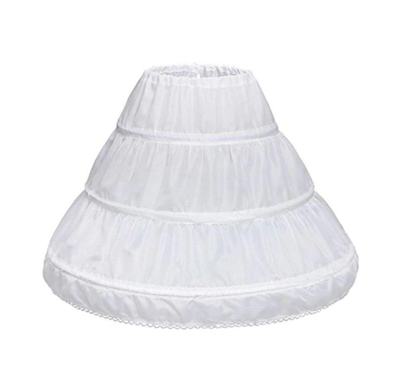 Onderrok Petticoat volume meisjes wit