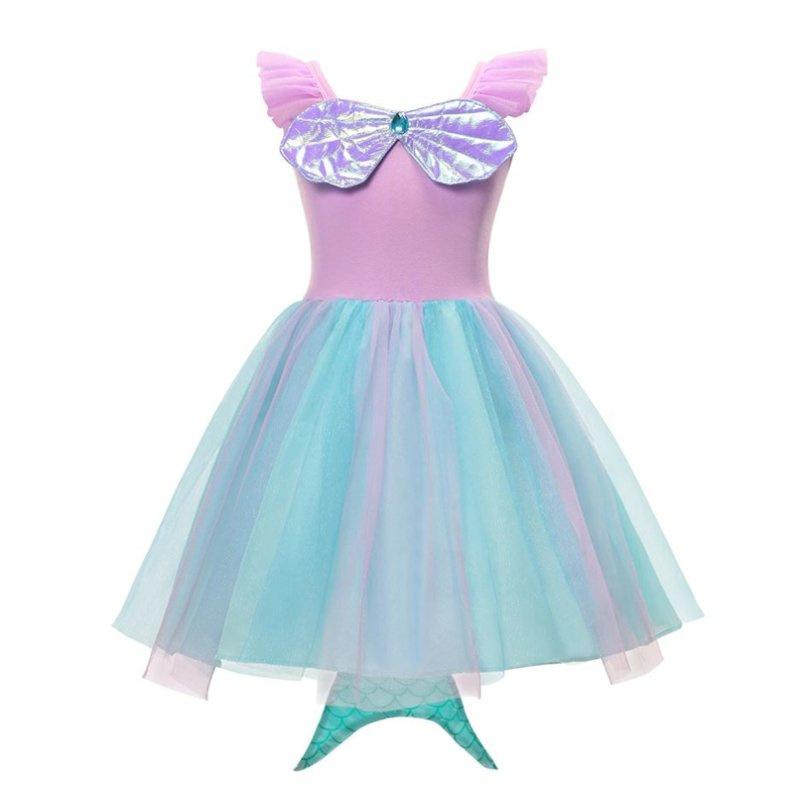 Zeemeerminnen jurk met staart + GRATIS kroon