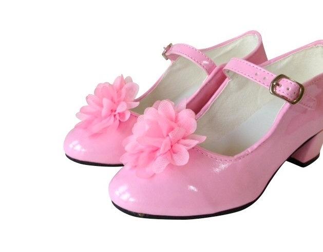 Flamenco schoenclip roze bloem
