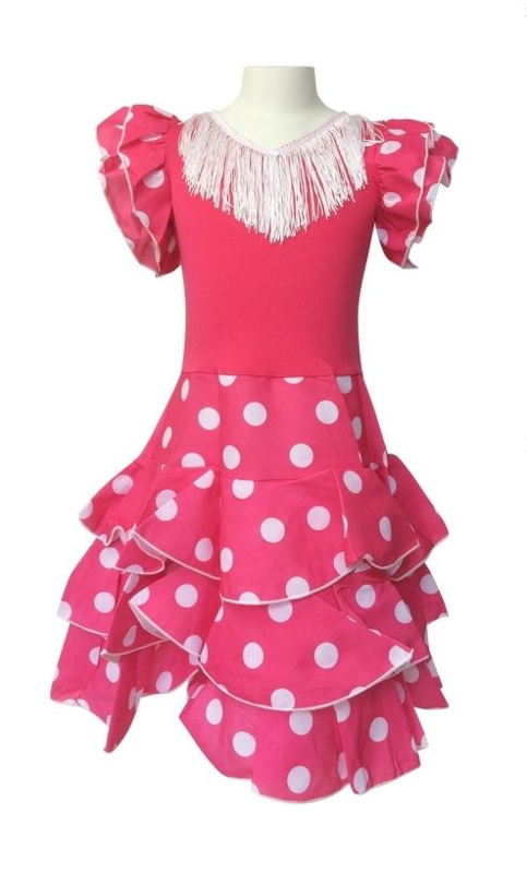 Flamenco jurk roze wit Niño