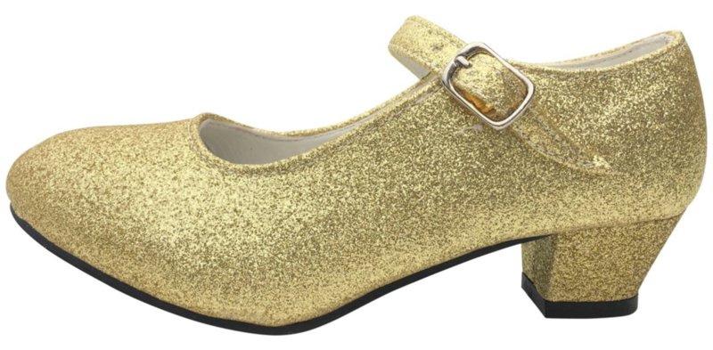 Spaanse schoenen goud glitter