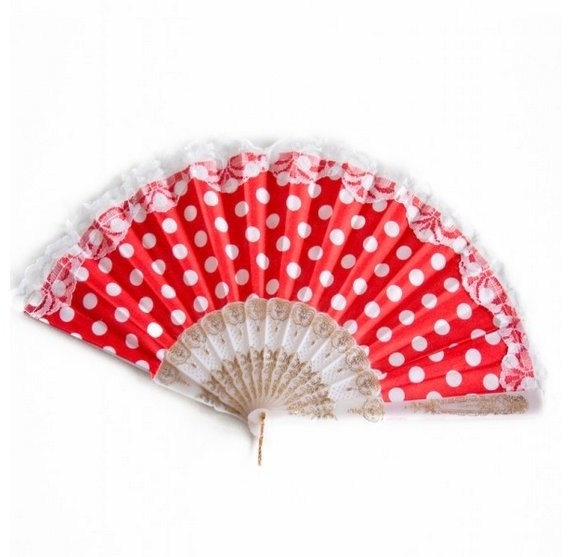 Flamenco waaier rood wit