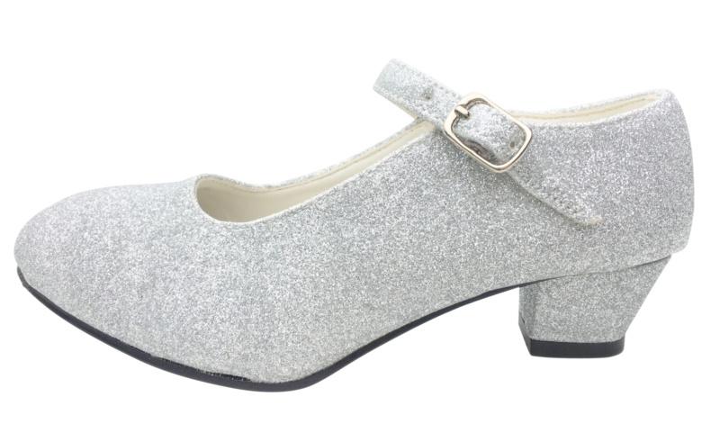 Spaanse schoenen zilver glitter