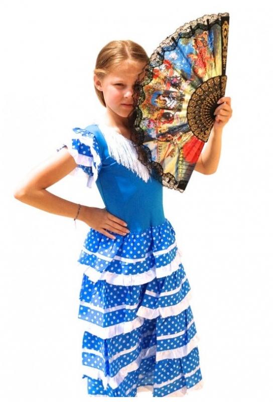 Flamenco Dress blue white