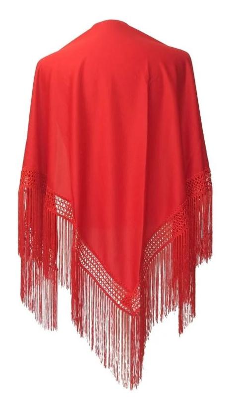 Spanish Flamenco Dance Shawl red