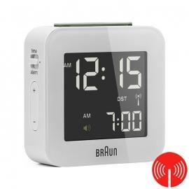 Braun Digitale Radiogestuurde Reiswekker BNC008 Wit