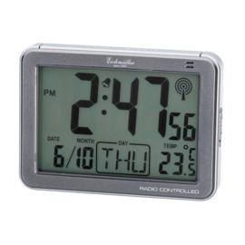 Eichmüller Radiogestuurde Digitale Wekker met Temperatuur Grijs