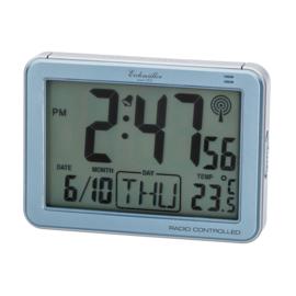 Eichmüller Radiogestuurde Digitale Wekker met Temperatuur Blauw