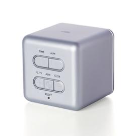 Lexon Cube Digitale Wekker met Datum en Temperatuur Aluminium