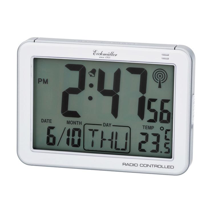 Eichmüller Radiogestuurde Digitale Wekker met Temperatuur Wit