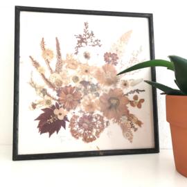 Vintage schilderij droogbloemen