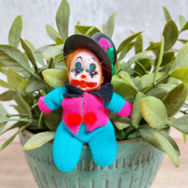 "Vintage ""lucifer""popje ""clown"", El Greco, beandoll hoge hoed, '70's"