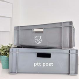 Vintage PTT post bak( kunststof)