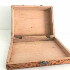 """Vintage blokkendoos kistje, zonder blokken """"Pinokkio"""""""
