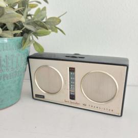 "Vintage transistor radio ""Twin speaker"", ""Hacosonic"""
