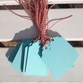 Prijs kaartjes( tags) licht blauw L