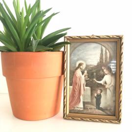 """Vintage schilderijtje """"Ter herinnering aan Uw H. communie"""" nr. 2"""