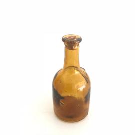 Vintage mini flesje met kurk bruin