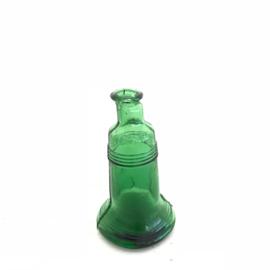 Vintage mini flesje zonder kurk groen