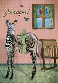 SALE: Ansichtkaart Kaartje of Kip; Zwanger