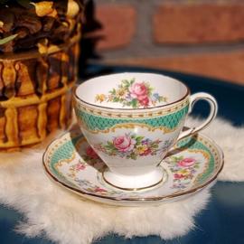 """Vintage kop en schotel 131,  """"Windsor"""" foley bone china, 1850"""