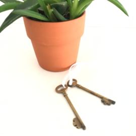 Vintage sleutel, 2 stuks, koper