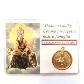 """Amulet kaartje""""Madonna della Corona proteggi la nostra famiglia"""""""