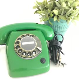 Vintage telefoon PTT type T65de luxe, Smaragd groen