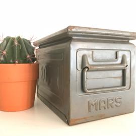 """Vintage Industriële bak """"Mars""""  groen"""