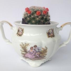 Vintage porseleinen suikerpotje, zonder deksel