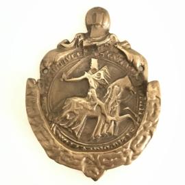 """Vintage massief koperen deurklopper """"ridder te paard"""""""