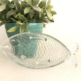 """Vintage glazen schaaltje """"Vis"""", geperst glas uit jaren '50"""