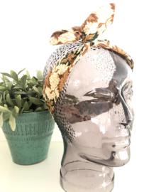 """Haarband met ijzerdraad """"uit eigen atelier"""", Indonesische print 3, smalle uitvoering"""