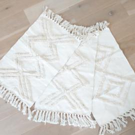 "Huren: Katoenen tapijt/kleed ""Ibiza"" 50 x 80 cm"