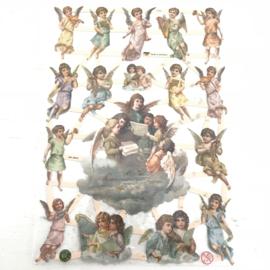 Poezie plaatjes  cherubijntjes/ engelen  nr. 7370