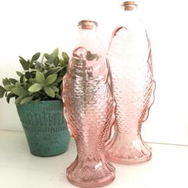 Fles met kurk in vorm van een vis, H 30 , roze
