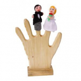 Bruidspaar vingerpoppetjes