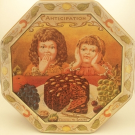 Vintage groot blik Mommy's Rich Fruity Cake