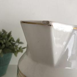 Vintage grote (lampet)kan met gouden biezen en accenten