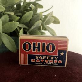 "Vintage lucifer doosje ""Ohio quality"""