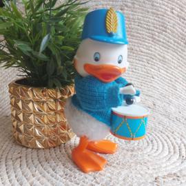 Vintage wind up rubber duck trommelaar