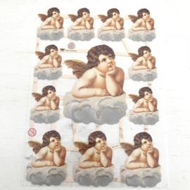 Poezie plaatjes  cherubijntjes/ engelen  nr. 7158B