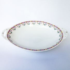 Vintage porceleinen opdien-schaal bloemetjes