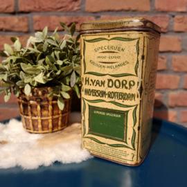Vintage blik H. van Dorp Hilversum-Rotterdam