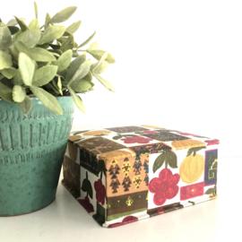 Vintage stoffen doos/ box, jaren '60