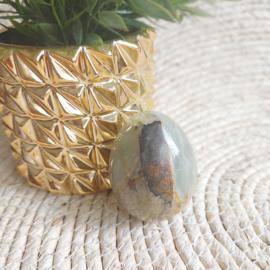 Vintage Onyx marmeren ei ( combi van Aragoniet en Calciet)