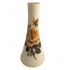 Vintage vaasje gele roos, Royal Bavaria
