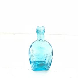 Vintage mini flesje zonder kurk blauw